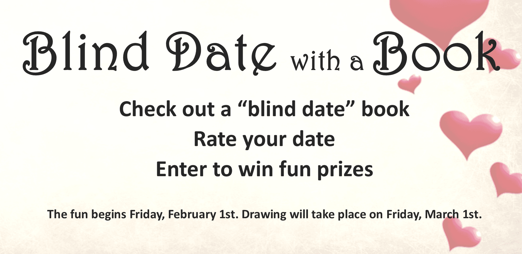 Blind Date with a Book 2019: Check out a surprise book, read and rate it, and have a chance to win c